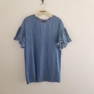 Denim Zara Raw Edged Blouse / Dress